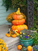 Fall dispaly on front porch